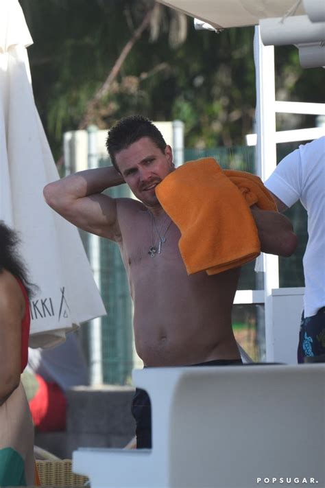 Stephen Amell Shirtless Pictures in St