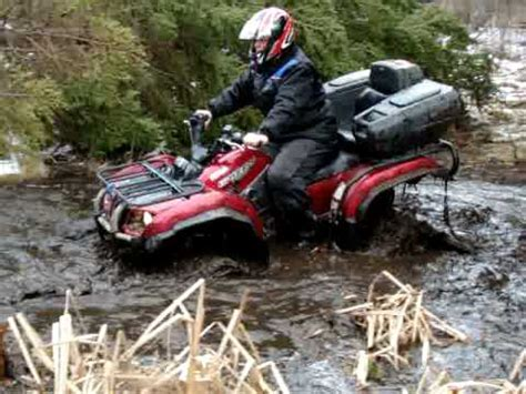 yamaha grizzly 660 with tracks - YouTube