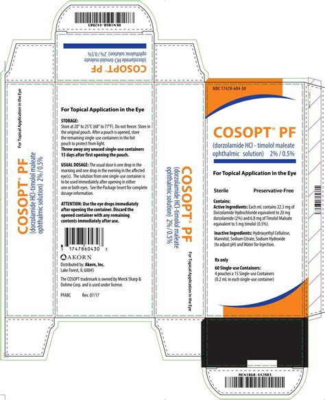 Cosopt PF - FDA prescribing information, side effects and uses